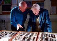 Professor Tim Birkhead with Sir David Attenborough.