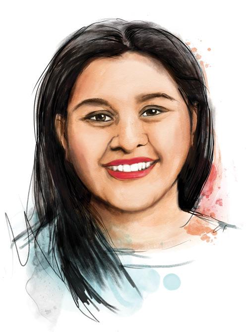 Illustrated portrait of Hemanshi Galaiya