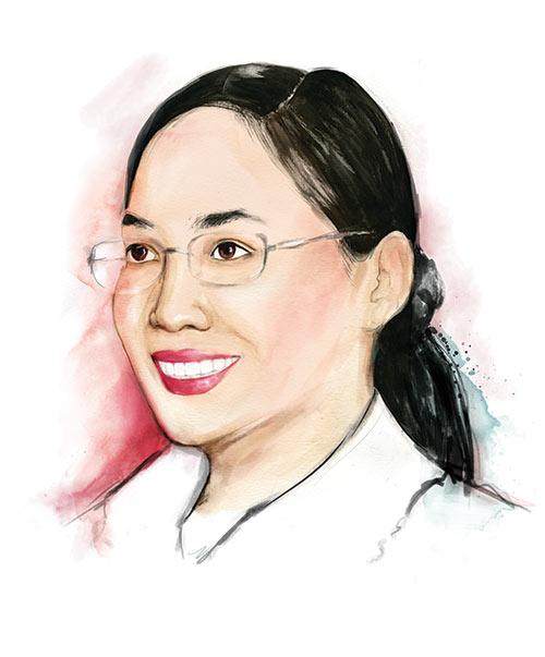 Illustrated portrait of Mary-Ann Suan Kim Ooi (Kim)