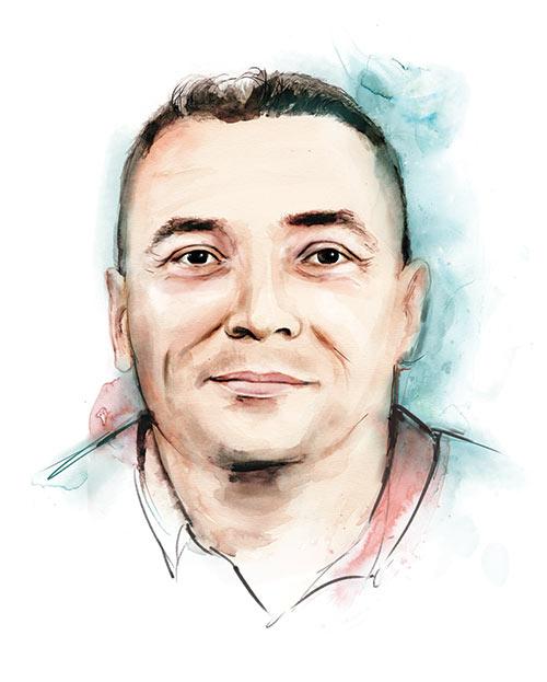 Illustrated portrait of Steve Oliver